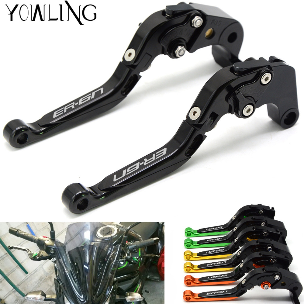 CNC Motorcycle Brakes Clutch Levers For KAWASAKI NINJA ER6N ER 6N ER-6N 2006 2007 2008 2009 2010 2011 2012 2013 2014 2015 2016 for yamaha yzfr6 yzf r6 2006 2007 2008 2009 2010 2011 2012 2013 2014 motorcycle engine stator cover chrome left side