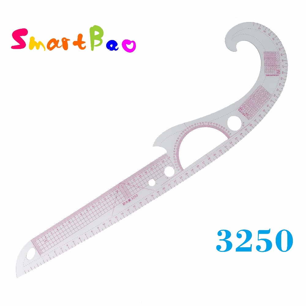 Multifunctional Curve Ruler Tailor Ruler Tailoring Cutting Template Foot Costume Design Neckline Armhole Curve Rulers; #3250 image