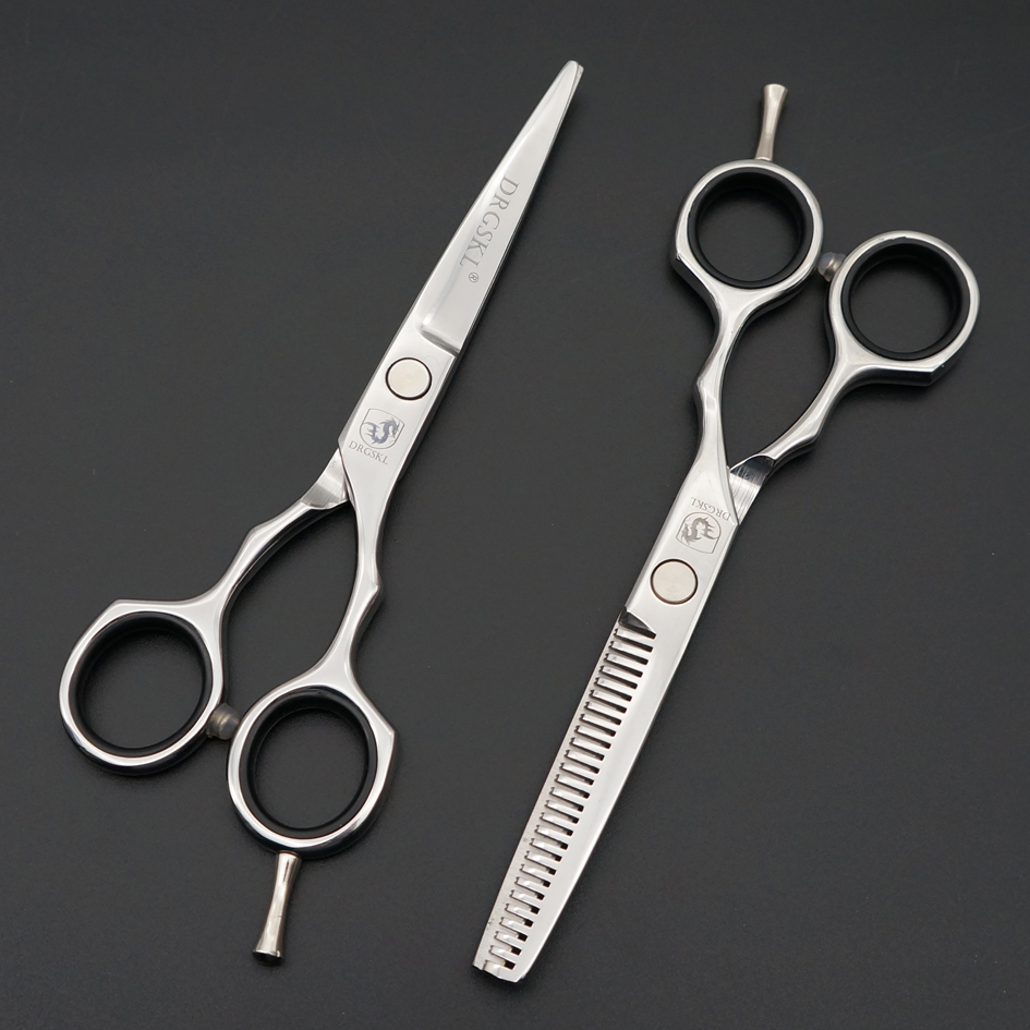 5.5/ 6.0 inch professional hair scissors, hairdressing scissors high quality hair cutting and thinning shears,customize LOGO
