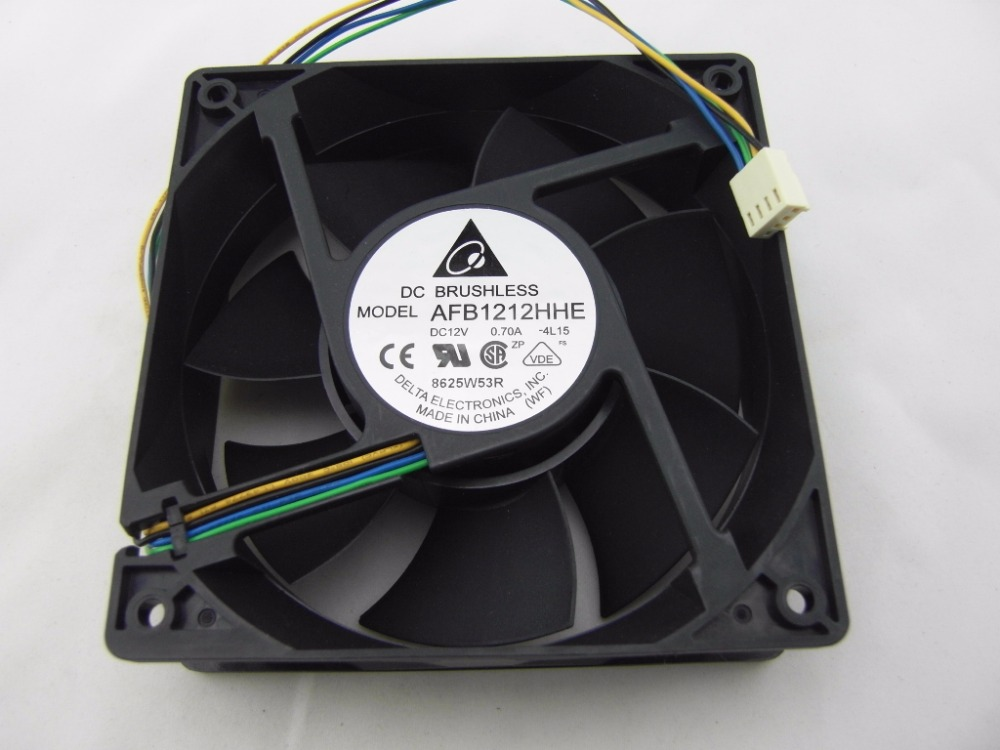 Free Shipping For Delta AFB1212HHE 12038 4-wire PWM Intelligent Temperature Control 12V 0.7A 120x120x38MM