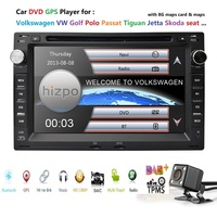 7Touch Screen Car DVD Player for VW Golf4 T4 Passat B5 Sharan with RDS BT GPS Bluetooth Radio Canbus SD USB Free Camera+8GB Map