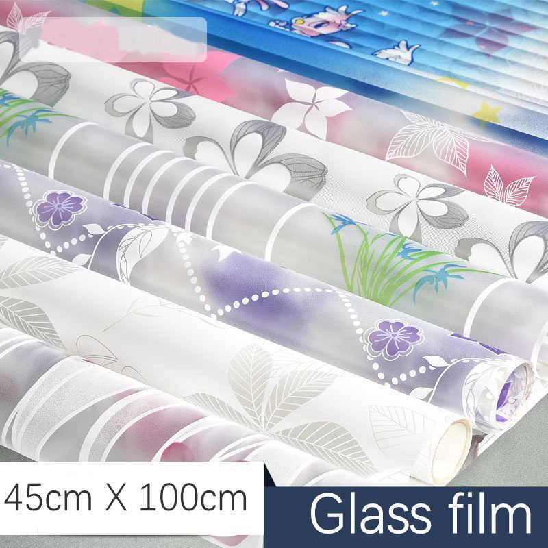 45x100 cm fosco janela de vidro adesivo luz opaco banheiro porta deslizante blackout janela filme decoração personalidade criativa