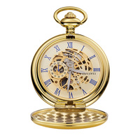 2018 Skeleton Mechanical Men Pocket Watch Chain Necklace Fashion Casual Pocket & Fob Watches OUYAWEI Watches