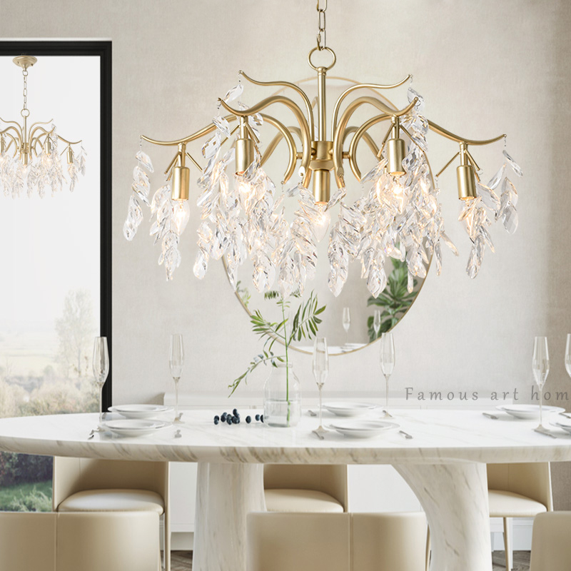 Dining Room Modern Crystal Chandeliers: Modern Crystal Art Chandelier Lighting European Style