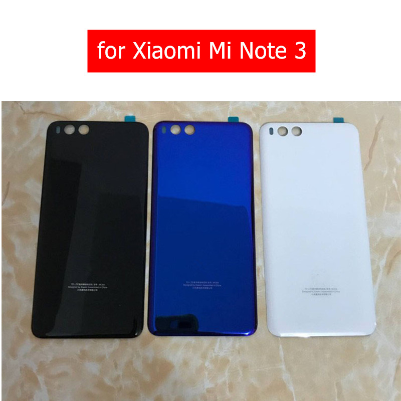 for Xiaomi Mi Note 3 3D Glass Battery Back Cover Rear Housing Door for Xiaomi Mi Note 3 Repair Spare Parts with 3M Glue(China)