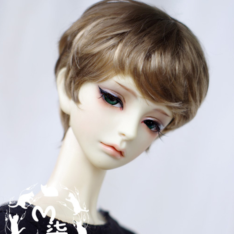 1PCS BJD Wig Boy Brown Short Wigs For Dolls BJD 1/4 1/3 1/6