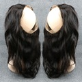 360 Lace Frontal Closure 7A Lace Frontals With Baby Hair Piece Indian Virgin Hair Body Wavy Full Frontal Lace Closure Free Ship