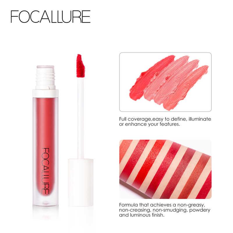 Lápiz labial líquido de terciopelo FOCALLURE impermeable de larga duración 9 colores pintalabios mate