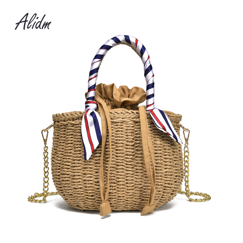 где купить 2018 Straw Bags Women Summer Rattan Bag Handmade Women Beach CrossBody Bag Bohemia Handbag Bali Shoulder Bag bolsa feminina 2018 по лучшей цене