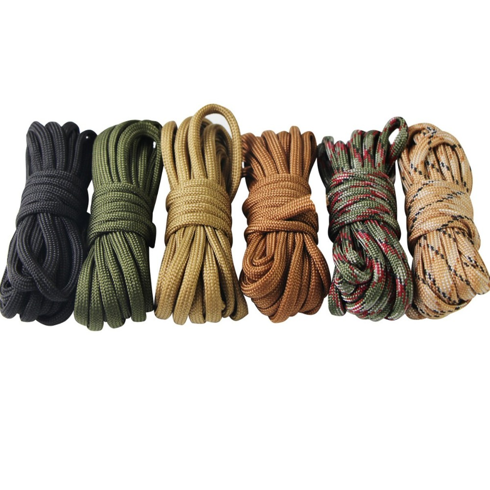 Купить с кэшбэком Paracord Bracelet Cord Self Protect Lifeline Parachute Rope Outdoor Survival Safe Rope Set DIY Hand Woven Hiking Accessories 3m