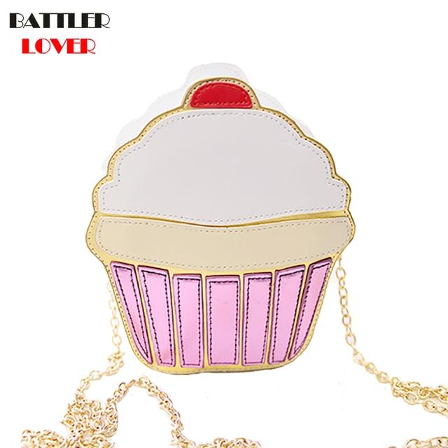 8ab8b2df74750 New Cute Cartoon Women Ice Cream Mini Bags Small Chain Clutch Crossbody  Girls Shoulder Messenger Bag