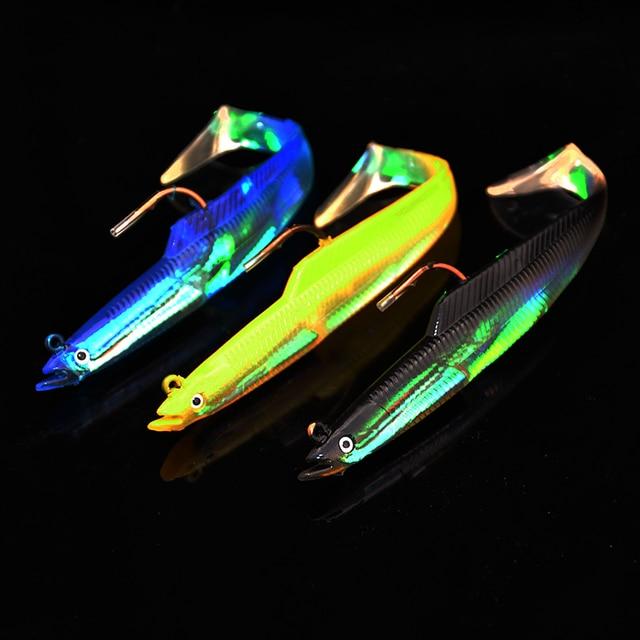Tête de plomb Crochet Poissons 17 cm 32g 3 pcs Classique Flexible Souple Leurres Swimbaits Appâts Artificiels Leurre De Pêche de pêche Leurres