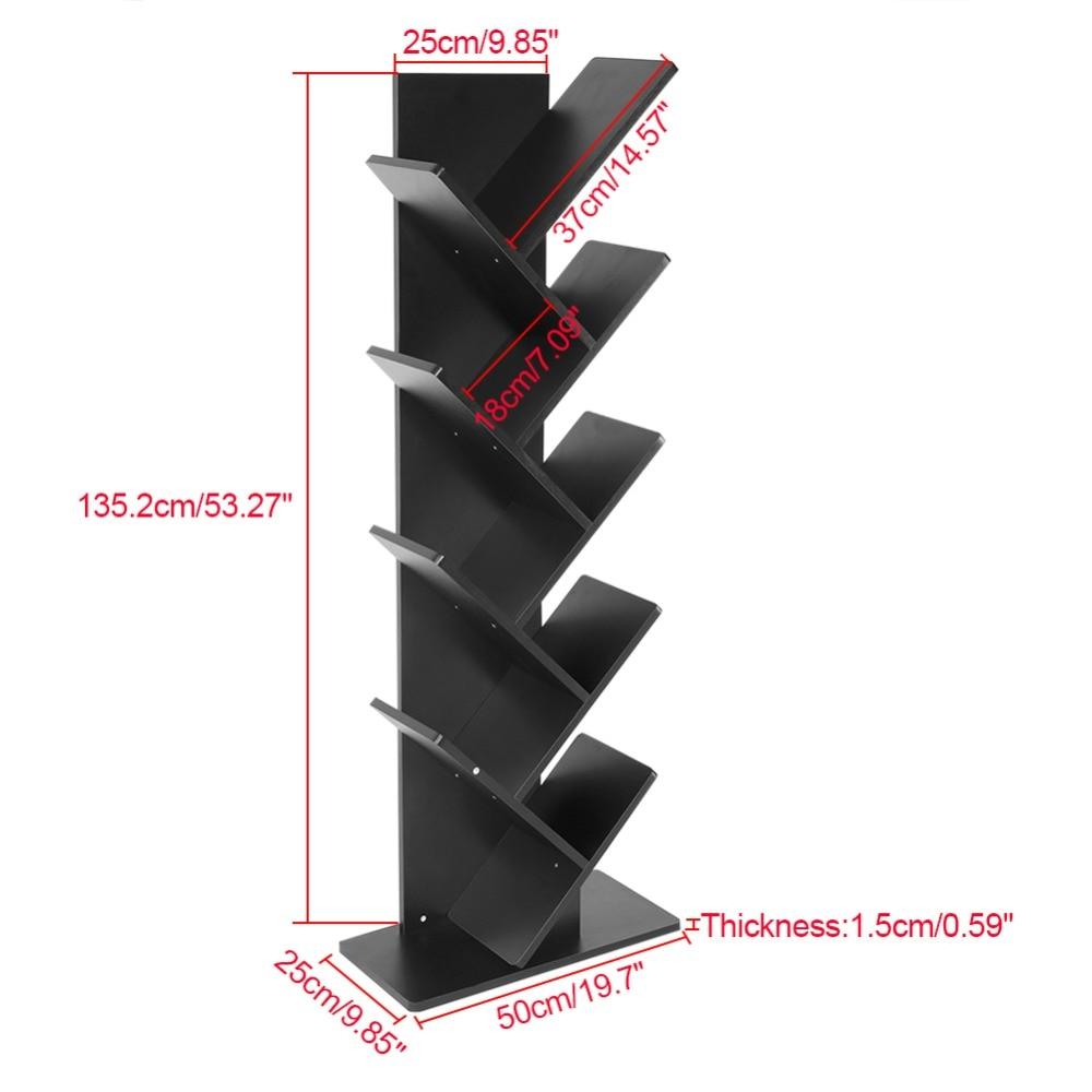 Spaanplaat Moderne 9 Tier Boekenplank Boekenkast Boeken Cds Display Opslag Rack Plank Organisatie Kast