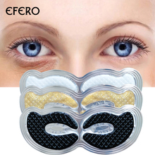 лучшая цена Crystal Collagen Eye Mask Eye Patch Anti Wrinkle Anti Puffiness Face Mask for the Eye Dark Circle Remover Eye Patches Skin Care