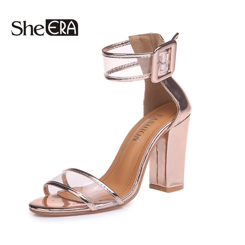 She Era 2018 Shoes Women Summer Shoes Fashion Dancing High Heels Sandals Sexy Stiletto Party Wedding Shoes Women Pumps