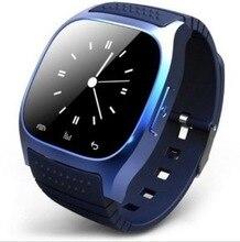 Tragbare geräte smart bluetooth-uhr SmartWatch m26 mit led-anzeige Barometer alitmeter Musik schrittzähler für android ios