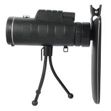 40X60 зум HD двойной для фокусировки Оптический Призма Монокуляр Телескоп объектив с штатив клип для смартфонов фотография регулируемый
