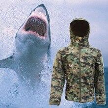 Горячая Распродажа, мягкая оболочка из кожи акулы, для улицы, военная, Охотничья, тактическая куртка, Мужская, водонепроницаемая, ветрозащитная куртка, для улицы, экипировка для мужчин