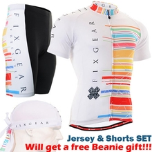 2017 team cycling clothing sets New Arrival Summer Bicycle Sportswear For Men colorful strip Cycling Jersey Custom Maillot-Set