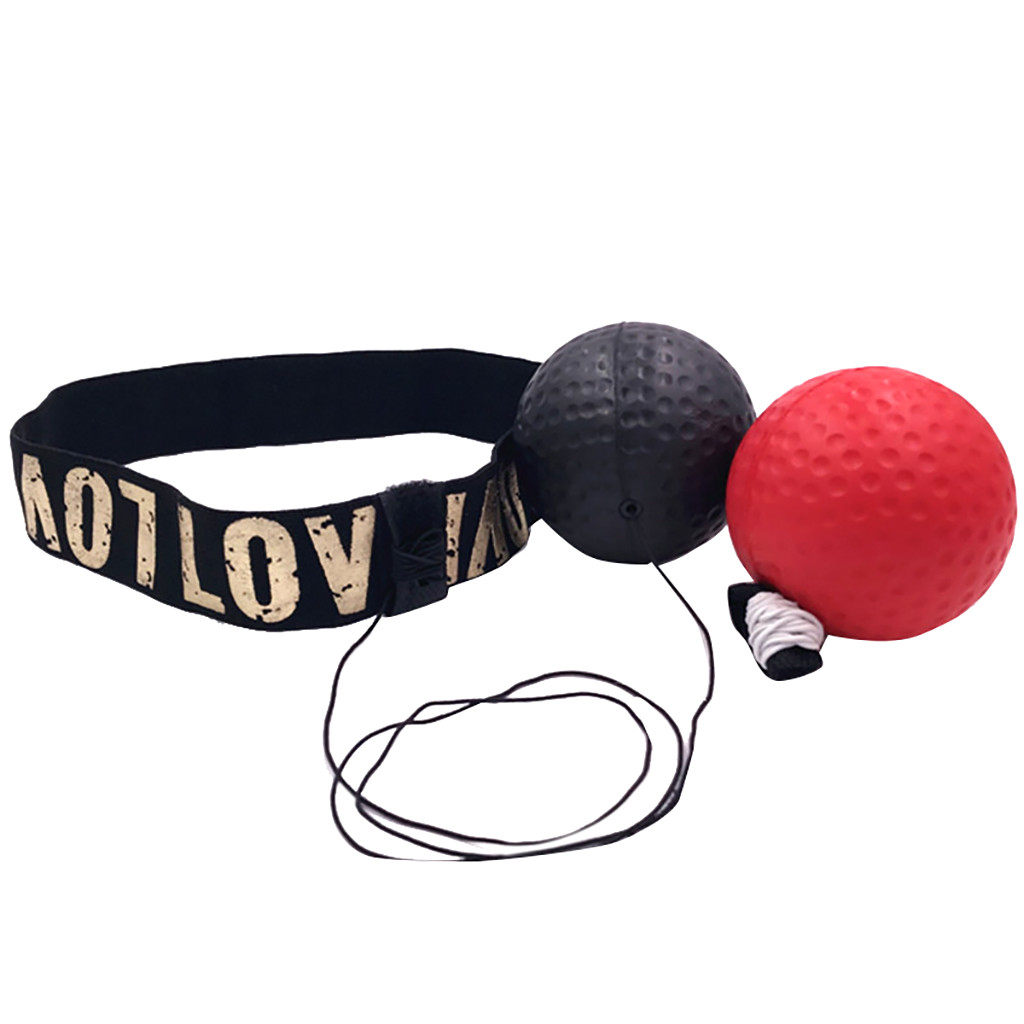 1set Ball Boxing Punch Exercise Fight Ball Red Black React Reflex Punching Speed Ball Hott Adjustment Head Circumference F185