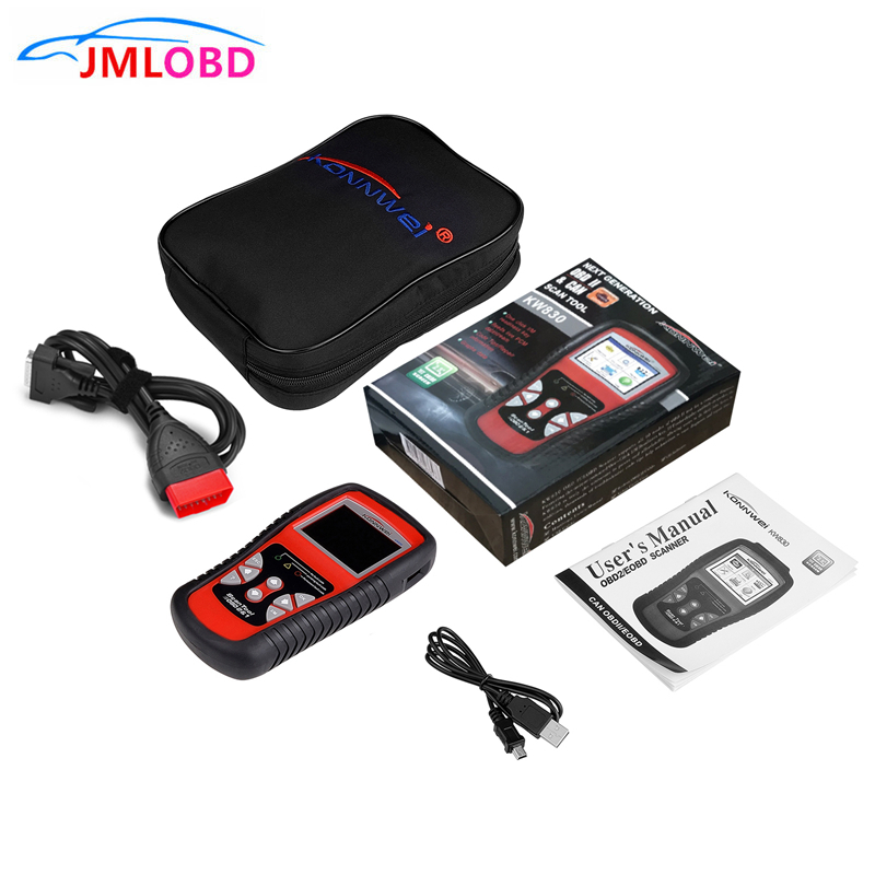 OBD2/EOBD Diagnostic Scanner automatique lecteur de Code défaut automobile outil de Diagnostic détecteur de voiture outil automobile KONNWEI KW830