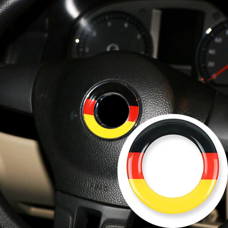 Autocollant de cercle emblème de volant de voiture en carbone pour Volkswagen VW Passat B6 B5 B7 B8 Golf 4 5 7 6 Polo Touareg mk7 MK5