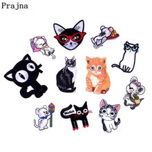 Prajna Pet Cat Patch Embroidery For Clothes Backpack Jeans Badge Jacket Craft Patches Applications For Clothes Sew Appare F(China)