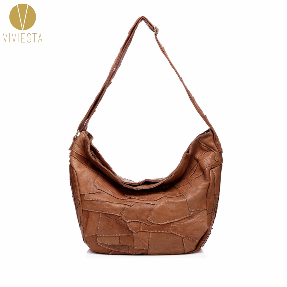 REAL GENUINE LEATHER PATCHWORK HOBO Womens Top Quality Daily Casual Soft Cowhide Cow Grain Leather Large Shoulder Bag HandbagREAL GENUINE LEATHER PATCHWORK HOBO Womens Top Quality Daily Casual Soft Cowhide Cow Grain Leather Large Shoulder Bag Handbag