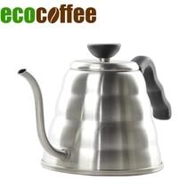Hohe Qualität 1000 ML Edelstahl Kaffee Wasserkocher Teekanne Kaffee Wasserkocher Stil V60 Tee und Kaffee Tropf Wasserkocher topf