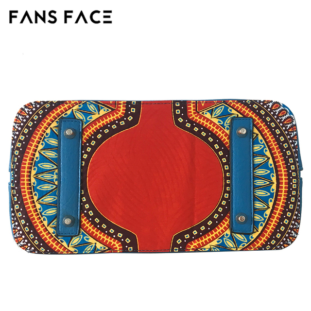 FANS FACE Traditional African Print Bags Female Shopping/Party Luxury Handbags Women Blue Bags Designer afrikanische kleider 4