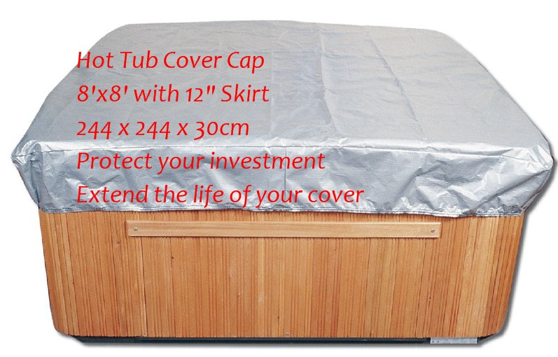 Customize hot tub cover bag and spa cap , size 244 x 244 x 30.5cm ( 8 Ft x 5 ft x 12 Inch )any shape and size is avaliable