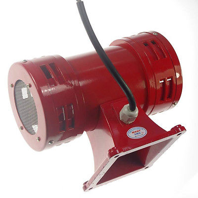 цена на AC220V 150db Motor Driven Air Raid Siren Metal Horn Double Industry Boat Alarm