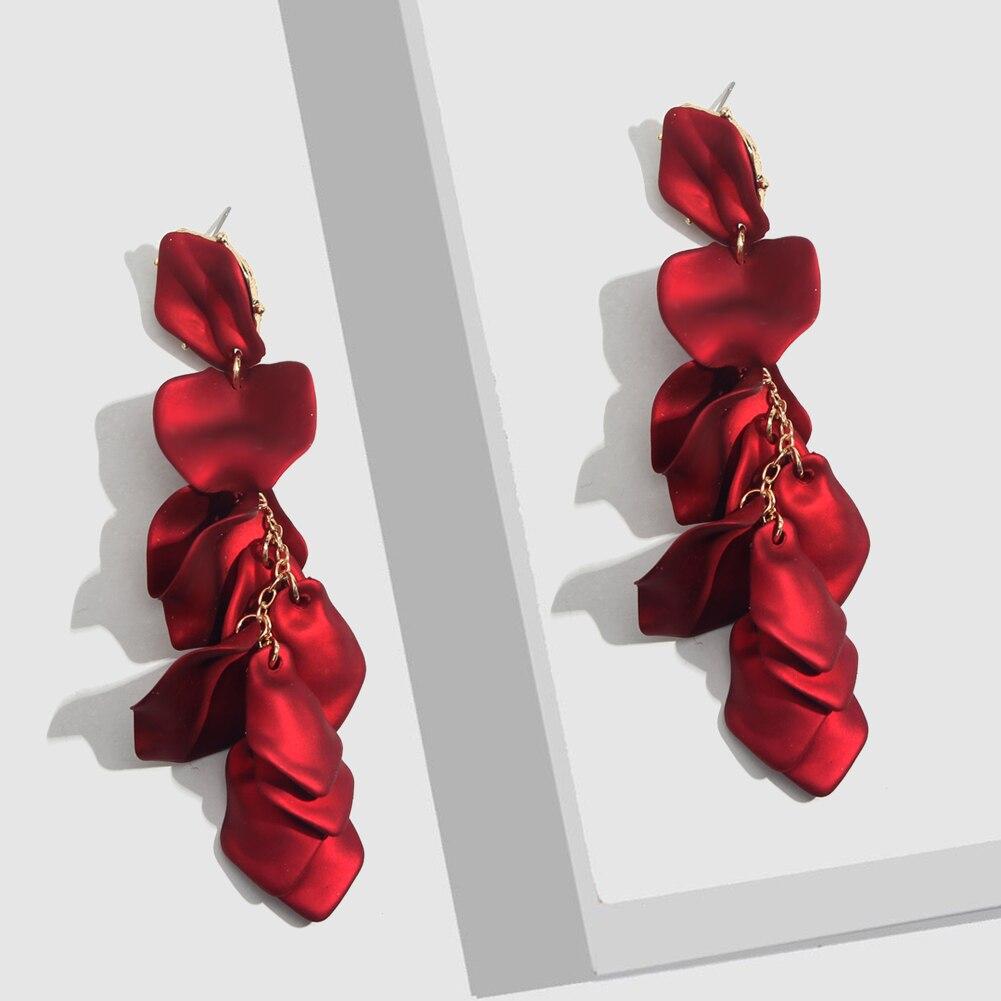 Flatfoosie Fashion Acrylic Resin Drop Earrings For Women Vintage Geometric Long Dangle Statement Earrings Wedding Party Jewelry 28