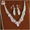 Coreano jóias de casamento da noiva colar de jóias definir o vestido de casamento presente de aniversário acessórios de Strass cadeia clavícula