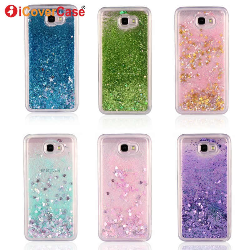 Glitter Case For Samsung Galaxy J7 Prime Liquid Shining Phone Cases For Samsung  J7Prime Soft TPU Silicone Case Cover Coque Funda-in Fitted Cases from ... 1f7c024c2276