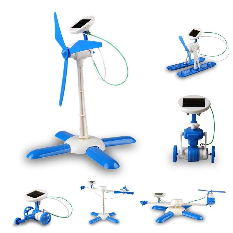 6in1 BRICOLAGE jouet solaire kit Transformer robot moulin avion voiture pour l'éducation énergie solaire Kits Nouveauté solaire robots Cadeau Pour garçon gril