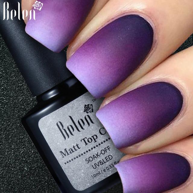 Belen Cleaning Matt Top Coat Matte UV Gel Nail Polish UV Varnish ...
