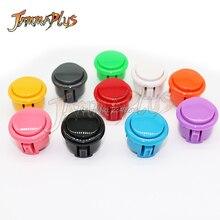 Десять цветов кнопка для игровых автоматов Sanwa 30 мм Кнопка с микропереключателем для DIY Kit Raspberry pi 50 шт./партия