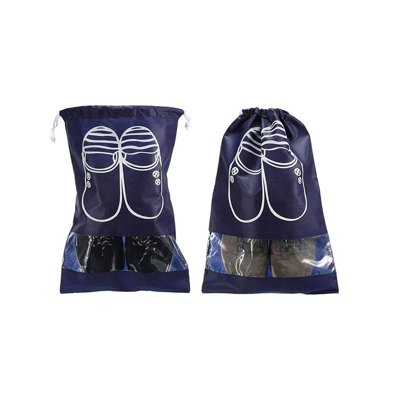 12 Pieces 2 Sizes Shoes Bag Shoe Organizer Bag Storage Dust-proof Shoe Bags With Drawstring For Women And Men