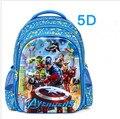 2016 Новый Прибыл 5D Капитан Америка Рюкзак, детские Капитан Америка Hero Школьный для мальчика Подарки школьник Мешок