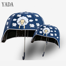 YADA Design Cartoon Helmet Lamb Umbrella High Quality Girl/Baby Outdoor Gift Toys Kids Lovely Children Long Handl YD032