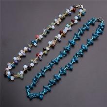 Beaded Necklace-Collar Quartz-Stone Colorful Choker Natural Crystal Treat 3pcs/Lot Amazonite
