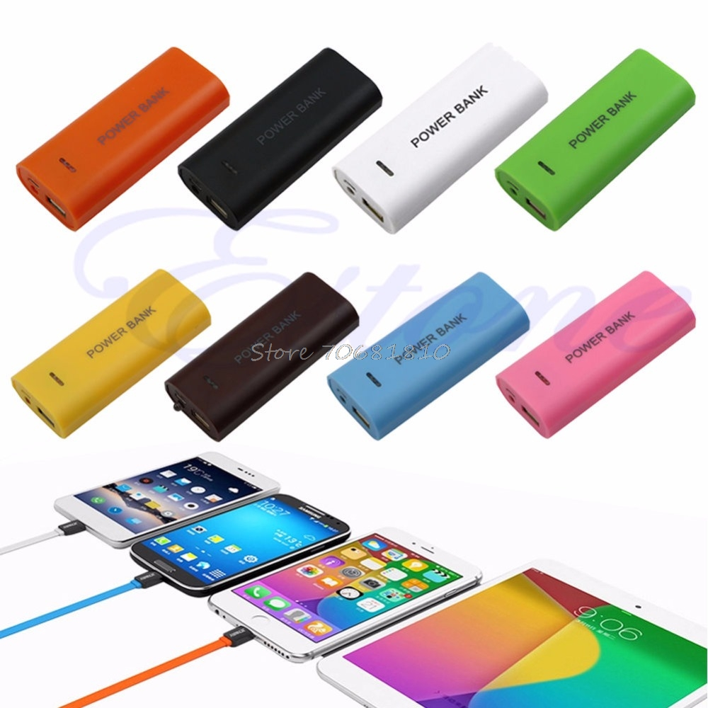 New Portable 18650 External Battery USB Charger Power Bank Case Cover Drop Shipping