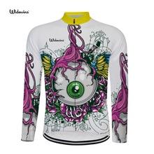 new Cycling Jersey 2019 Magic eye Summer men long sleeve cycling shirt Bike bicycle clothes Clothing Ropa Ciclismo Free 5477
