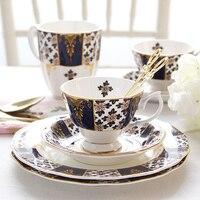 European Style Retro High Grade Gift Bone Porcelain British Afternoon Tea Coffee Cup Set Set Large