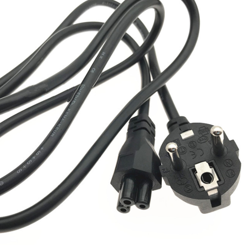 EU European Power Cord Euro EU Plug C5 Cloverleaf Power Supply Lead Cable 1.5m 5ft For Notebook Laptop PC Computer AC Adapters-in International Plug Adaptor from Consumer Electronics