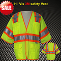 CE approved EN471 /ANSISEA 107 High visibility short sleeve safety jacket vest waistcoat safety reflective 3M vest workwear