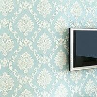 European Style 3D Embossed Floral Luxury Damask Wallpaper For Living Room Bedroom TV Background Desktop Wallpaper