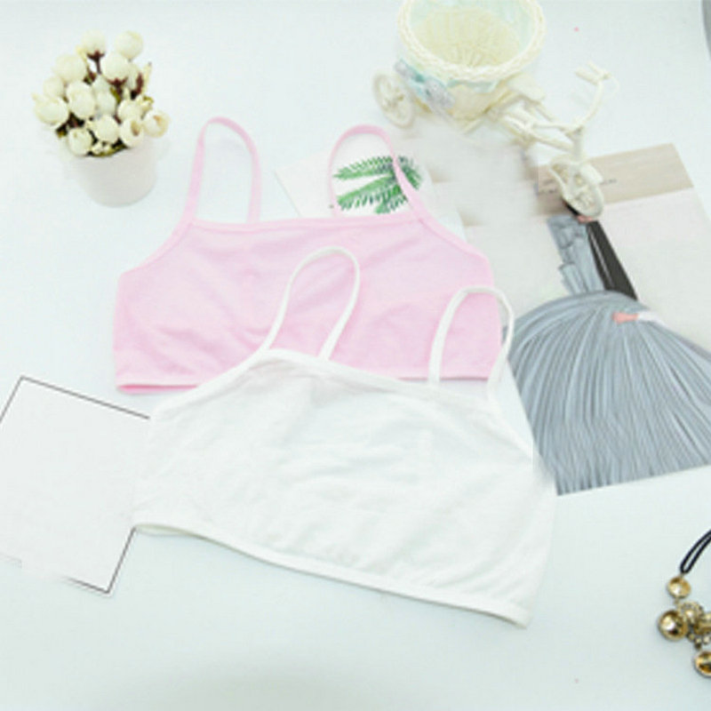 Children Young Teenagers Girl Student Vest Underwear Sport Training Bras Teens School Puberty Bra Cotton Undergarment Clothes (7)