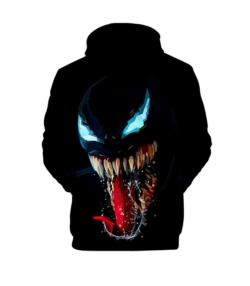Comic Venom Hoodie Sweatshirts Men Superhero Anime Cool Black Autumn Winter Tops Plus Velvet Warm Hoody Couple Hip Hop Pullovers (5)
